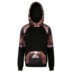 3D Eagles pattern digital print Design 3D Digital Printed Hooded fleece Fashion for Women and Men colorful s/m