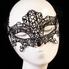 Fashion Nightclub Lace Mask Masquerade Ball Mask black onesize