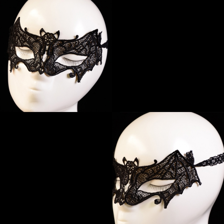 Fashion Nightclub Lace bat modelling Mask Masquerade Ball Mask black onesize
