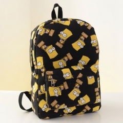 The new simpsons style canvas double shoulder bag student bag black one-size