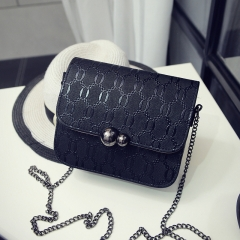 Female bag new fashion gourd chain mini bag mini - shoulder cross-mobile phone bag black one-size