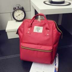 Fashion and Leisure Bags Nylon Backpack Leisure Bag Double Shoulder Bag red one-size