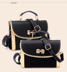 The New One Shoulder Slanting Lady Bag Vintage Portable Fashion Bags black one-size