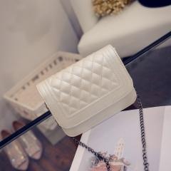 The new single-shoulder slanted chain bag mini bag ladies' bag white one-size