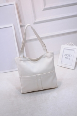 Fashion Vintage Style Big Bags Single Shoulder Bag white one-size