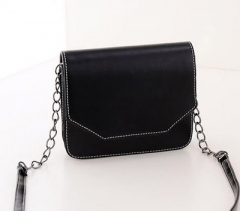 New Vintage Chain Bags Inclined Shoulder Bag Fashion black one-size