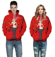 Christmas elk Design 3D Digital Printed Hooded fleece Jacket Fashion for Women and Men hoodie colorful s/m