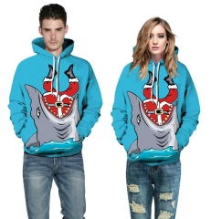 Christmas Jaws Design 3D Digital Printed Hooded fleece Jacket Fashion for Women and Men hoodie colorful s/m