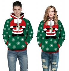 Christmas Design 3D Digital Printed Hooded fleece Jacket Fashion for Women and Men hoodie colorful s/m