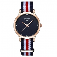 Fashionable Korean Edition Simple And Casual Quartz Watch Waterproof Couple Fashion Watch Five colors red