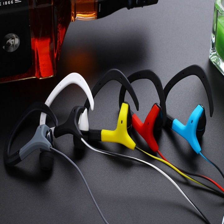 Fashion ear sports headset yellow