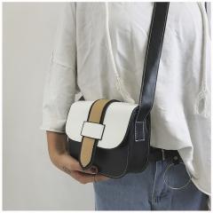 Small Bag Single Shoulder Bag Slant Cross Small Bag Fashionable Casual Woman Bag black one-size