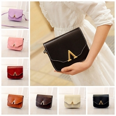 New V Mouth Small Square Bag Single Shoulder Bags  Women's Bags black one-size