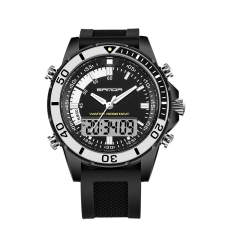 Men's Wrist Watch Multi-Functional Outdoor Electronic Waterproof Business High-End Leisure Watch black-black onesize