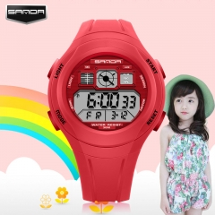 LED Waterproof Sports Personality Children's Watch Electronic Watch red