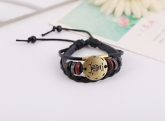 Personality Bracelet Handwoven String Bracelet Constellation Bracelet Punk Leather Taurus one size