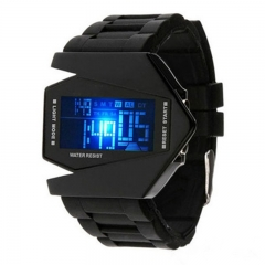 Colorful LED electronic watch multi-functional sports fashion watch lovers Watch white onesize