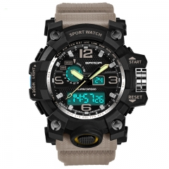 Fashion Sports Multi-Function Electronic Watch Male Waterproof Quartz Watch khaki onesize