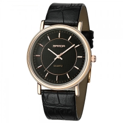 Fashion Watch Fashion Trend Belt Quartz Lovers Watch Waterproof Boys Girls Watch blk-blk-gold onesize