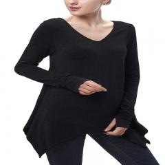 Fashion Loose Irregular Swing Sleeve For Long Sleeved T-shirts black s