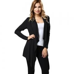 Fashion Women's Clothes Long Sleeved Coat Long Shirt black s