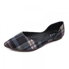 Fashion Women's Antique Style Flat Top Single Shoes Soft And Comfortable black 35