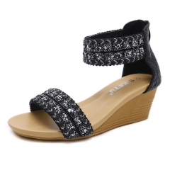 Fashion Women's Shoes Sandals Soft And Comfortable Black 35