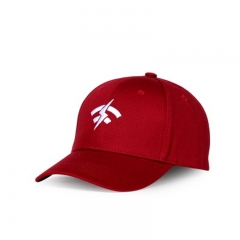 Outdoor Baseball Cap Embroidered Hat Cotton Dome Cap red