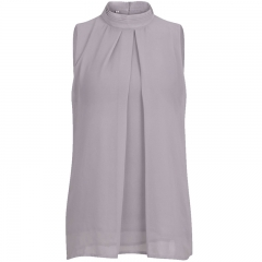 Women's Clothes Sleeveless Chiffon Shirt Soft And Thin light grey s