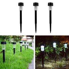 3pcs Solar Energy Lamp Waterproof Outdoor LED Courtyard Landscape Lawn Lamp Plastic white light 0.08W