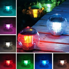Courtyard Solar Energy Pool Lamp Water Drift Lamp Pond Automatic Discolouration Lamp Colourful Colourful 1W