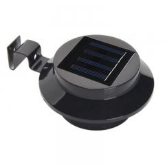 3LED Solar Fence Lights Eaves Solar Street Lamps Garden Lights black 0.3W