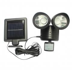 22LED Household Solar Energy Lamp Human Body Induction Lamp Street Lamp Black shell white light 0.2w