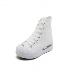 Fashion Women Canvas Shoes Student Sneakers Casual Shoes Lace-up Sneakers Shoes white 35