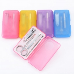 Stainless Steel Nail Clipper Nail Clipper Kit Set random colors one-size