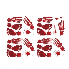 Halloween Blood Fingerprints Stickers Palm Prints Wall Stickers one-size onesize
