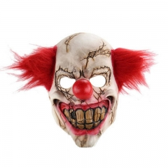 Horror Clown Halloween Christmas Bar Props Latex Mask one-size onesize