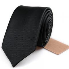 Men's Necktie Fashion Leisure Pure Color 6cm Knitted Necktie black one-size