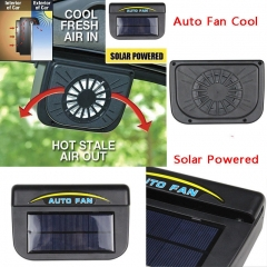 Universal Solar Fan Car Window Windshield Auto Air Cooling Fan Window Exhaust Fans black one-size