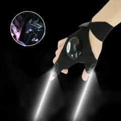 Multifunctional Lighting Glove Night Car Repair Glove LED Light Night Fishing Supplies black onesize