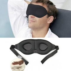 3D Rest Eye Mask Memory Foam Padded Shade Cover Blindfold Sponge Eyeshade for Sleeping black