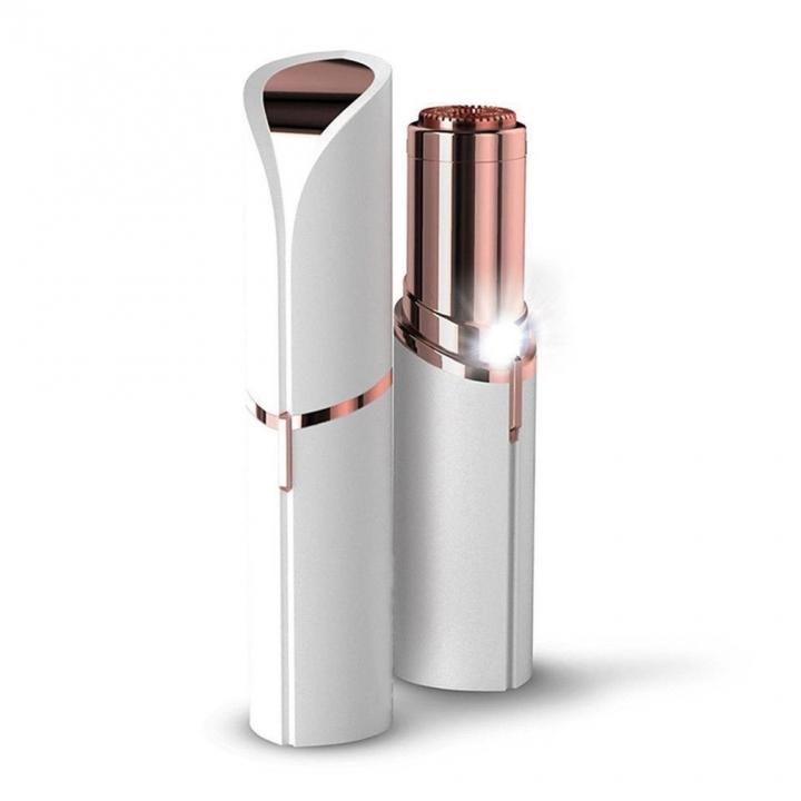 Female Mini Electric Epilator Lipstick Shape Shaving Shaver Lady Hair Remover For Women Body Face white one-size