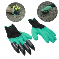 Garden gloves Claws ABS Plastic Garden Genie Rubber Gloves Quick Easy to Dig Plant Digging Planting