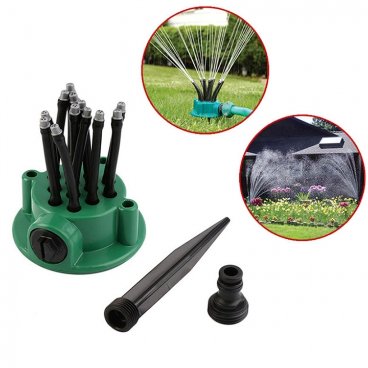 Multi Head Irrigation Watering Dripper Sprinkler Set 360 Degree Auto Flow Drip for House Home Garden green one-size