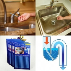12Pcs/set Oil Decontamination Kitchen Toilet Bathtub Drain Cleaner Sewer Cleaning Sewer Hair Clear one color one-size