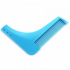 Comb Beard Bro Shaping Tool Beard Trim Template Hair Cut Hair Molding Trim Template blue one-size