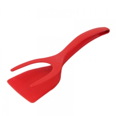 Grip and Flip Egg Pancake Spatula Silicone French Toast Omelet Making Kitchens red one-size