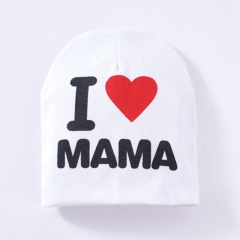 New Hat Love Mom And Dad Unisex Cotton I Love PaPa MaMa Hat Baby Cap Children's Hat White PAPA