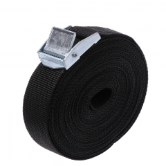 Thickening Binding Belt Luggage Fixed Binding Belt Goods Tension Rope Tie Down Strap black