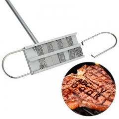 Personality Barbecue BBQ Meat Branding Iron With Changeable Letters BBQ Tool Changeable 55 Letters